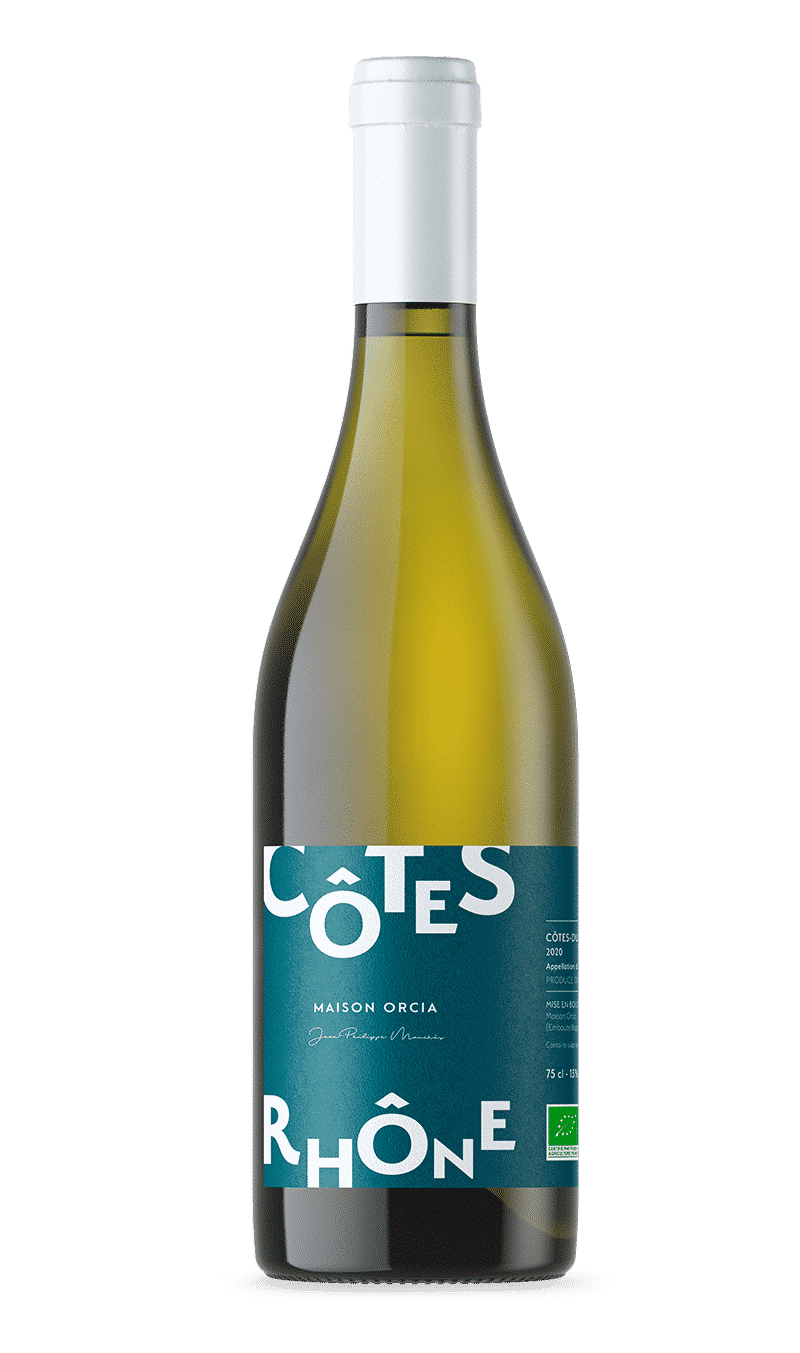 Bouteille Côtes du Rhône BIO Blanc - Maison Orcia